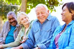 group of elderly